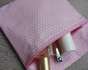 """Toilet bag """"Candy cane"""" collection / pink tones"""