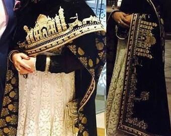 Mughal Black valvat shawal