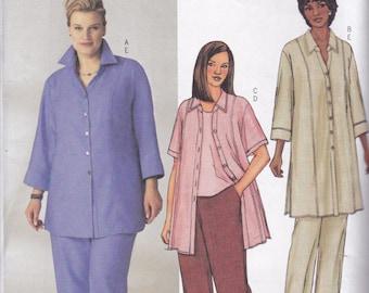 Butterick 3907 Vintage Pattern Womens Shirt, Tunic Top and Pants SIze 16,18,20 UNCUT