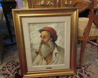 ITALY ORIGINAL PAINTING of Man