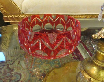 BOHEMIAN COLORED CRYSTAL Bowl