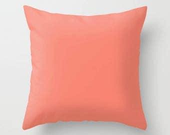 Coral Pillow | Decorative Pillow | Throw Pillow | Sofa Decor Cushion | Accent Pillow | Coral Cushion | Coral Room Decor | Coral Toss Pillow