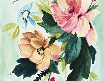 Garden Floral Painting/Water Color