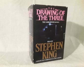 Stephen King The Dark Tower Cassette Set, Drawing Of The Three Audiobook Collection, 8 Tapes Unabridged, Read by Stephen King