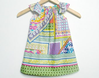 Baby Girl Clothing, Dress, Size 2 boho, moroccan colorful bright