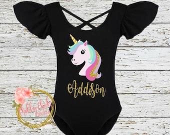 girls unicorn birthday outfit- first birthday- unicorn outfit- flutter sleeve leotard- unicorn bodysuit- baby girl- unicorn birthday