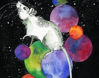Mama Rat in Space Print