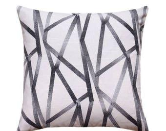 Throw Pillow Cover Geometric Modern Home Accent Orange White