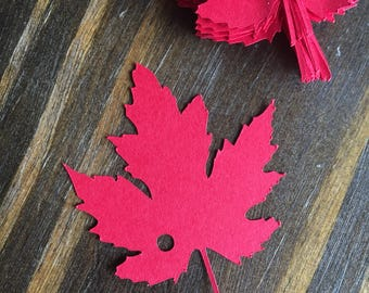 Red Leaf Gift Tags, Autumn Tags, Fall Tags