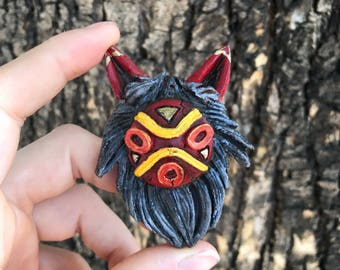 Mini Princess Mononoke Full Mask (Meisha Mock orignal desgin) pendant full color
