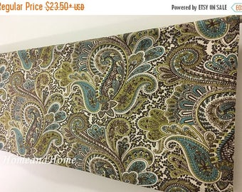 Summer SALE Valance / 2 panels Cafe curtains / Paisley valance / Kitchen valance/ Unlined or lined /Kitchen Cafe curtains / Topper Window Va