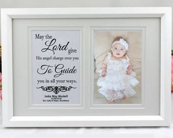 Christening Typography Frame- Personalised