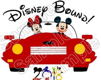 Disney Bound 2018 Mickey Minnie Disney Cruise Disney World  Disneyland Iron On Shirt Transfer
