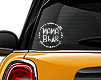 Mama Bear decal, yeti sticker, Arrow sticker, FREE SHIPPING, laptop decal, car sticker, home decor decal, bear decal #281