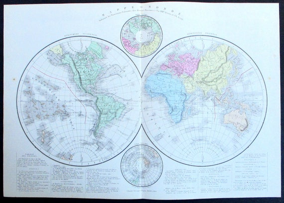 1887 world map mappe monde eastern western hemisphere also like this item gumiabroncs Images