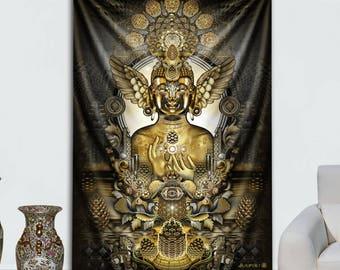 Pinecone Buddha Tapestry by Mugwort