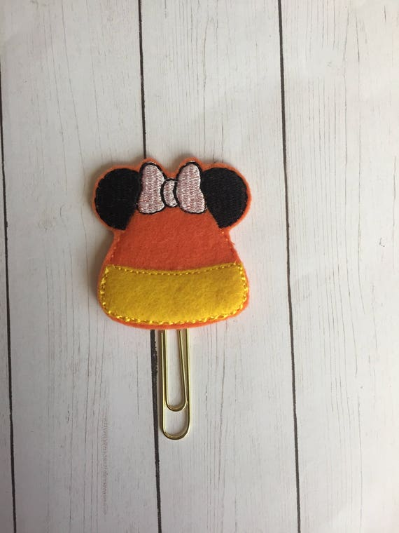 Miss Mouse Candy Corn planner Clip/Planner Clip/Bookmark. Mouse Planner Clip. Candy Corn Planner Clip. Halloween Planner Clip