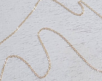 14K Gold Filled Chain, Delicate Gold Layer, Replacement Chain For Pendants, Finished Chain, 16-18-20-24-30-33-36 Inches, Made to Order