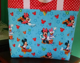 Girls Disney Minnie Mouse Tote Bag Library Bag Ladies Tote Preschool Bag