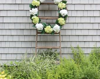 Farmhouse Hydrangea Wreath , Barn Wreath , Spring Wreath , Cottage Wreath , Extra Extra Large Wreath , Front Door Wreath , Hydrangea Wreath