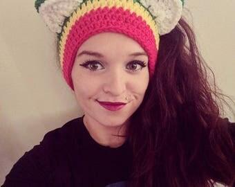 Crochet Rasta Kitty Ear Warmers