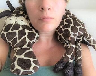 Giraffe Travel Neck Pillow - Giraffe Pillow Toy - Giraffe Stuffed Toy - Giraffe Plush Toy - Travel pillow - Neck support pillow - African