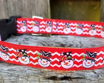 LAST ONE! On sale --> Snowman dog collar
