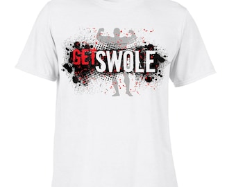 Get Swole T-Shirts Bodybuilding Strength Training Weightlifting Workout Gym SP. Free Shipping