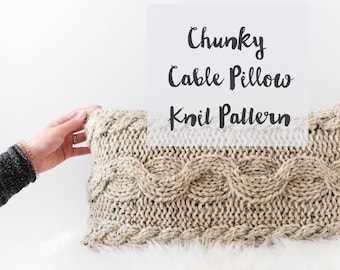Chunky Knit Cable Pillow Pattern