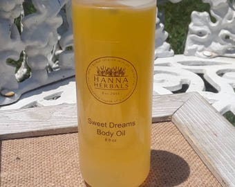 Sweet Dreams Body Oil - 8 ounce spray - after shower body oil - sleep aide - essential oil blend - all natural body oil