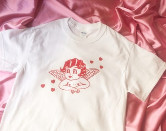 Lolly Dolly the Devil Cherub White or Pink Tees / T Shirt - Unisex Sizes