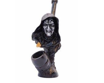 Star Wars Character on Emperor Pelpative  Handmade Tobacco Pipe, Plus 5 PCs Brass Screens