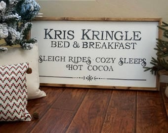 Kris Kringle Christmas Wood Sign
