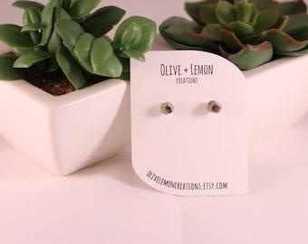 Pyrite Earrings - Gemstone Earrings - Fool's Gold Earrings - Stud Earrings - Raw Gemstone Earrings - Imperfect - Sterling Silver