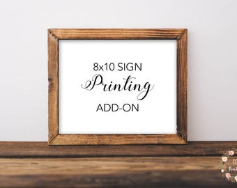 Printing Add-On for Any 8x10 Sized Sign in the GG's Printables Shop, Print and Ship, High Quality Prints, 8 x 10 Wall Art, 8 x 10 Print,