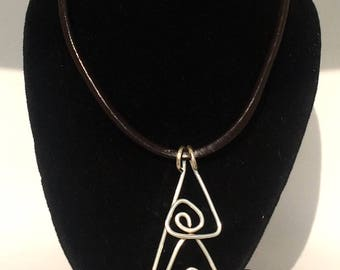Nordic Inspired Triangle Pendent Necklace