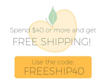 FREE SHIPPING on orders over 40