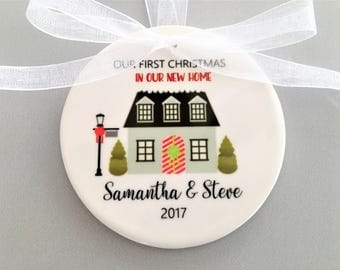 Our First Home Ornament, First Home Ornament, First Home Gift, Christmas Ornament, Christmas Gift, Stocking Stuffer, Our First Home