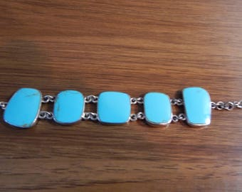Sterling Turquoise Toggle Bracelet