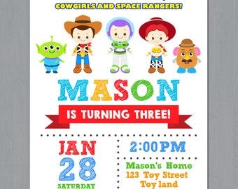 Toy Story Invitation, Toy Story Birthday Invitation, Toy Story Invitation Printable, Toy Story Invitations