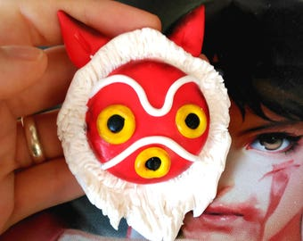 Mononoke Mask BIG MAGNET Studio Ghibli Princes Mononoke hime