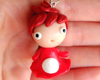 Ponyo on the Cliff by the Sea Necklace Kawaii Studio ghibli Cute
