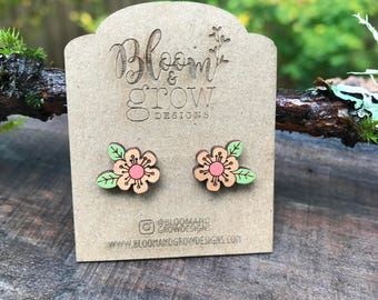 Stud Earrings - Flower 2