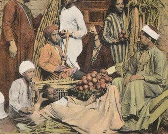 FREE POST - Old Postcard - EGYPT Cairo Bazar  - Vintage Postcard - Unused