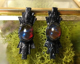 Dragons Blood Opal Earrings No. 1 - Art Deco
