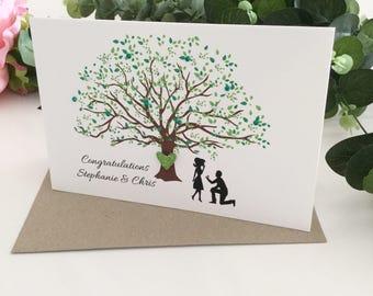 Engagement Congrats, Personalised Engagement Card, Engaged Card, Perfect Engagement Gift, Greenery, Newly Engaged Gift, Engaged Couple Gift