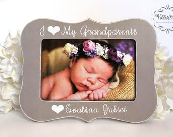 Gift for Grandparents Present for Grandparents I Love My Grandparents Picture Frame for Grandparents Personalized 4x6