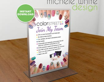Color Street Nails, Join My Team, Flyer/Poster - PRINTABLE