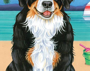 Bernese Mountain Dog Beach Towel 48051