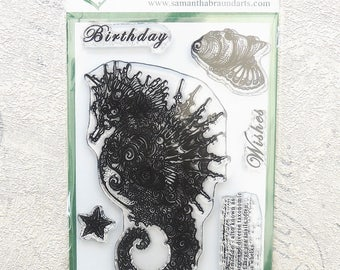 Portia Seahorse Stamp Set - Samantha Braund Arts - As Seen On Tv - Hochanda